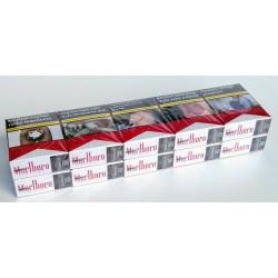 Kartonové balení cigarety s filtrem Marlboro Red short 70s tvrdá krabička kolek V 108 Kč 10x20ks