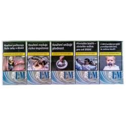 Kartonové balení cigarety s filtrem L&M Link Blue kolek Z 109 Kč 10x20 ks