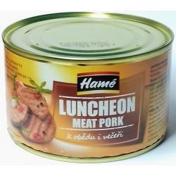 Masová konzerva hotové jídlo Luncheon meat pork Hamé 400g