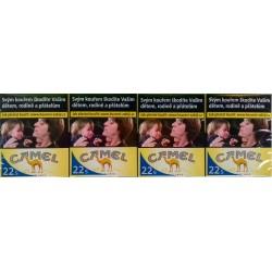 Kartonové balení tvrdá krabička cigarety s filtrem Camel Yellow 22s kolek F 131 Kč 8x22ks