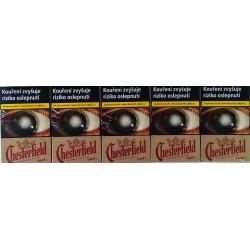 Kartonové balení tvrdá krabička cigarety s filtrem Chesterfield Crowned Red True kolek F 112 Kč 10x20 ks