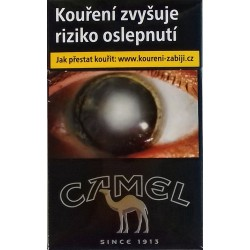 Kartonové balení cigarety s filtrem tvrdá krabička Camel Bleck kolek Z 104 Kč 10x20ks