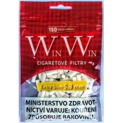 Cigaretové filtry Extra Slim 5,3 mm WinWin 150 ks