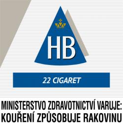 Kartonové balení cigarety s filtrem tvrdá krabička HB Blue kolek Z 109 Kč 8x22 ks