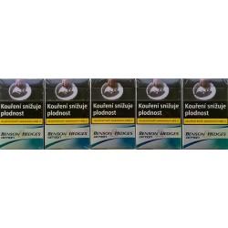 Kartonové balení tvrdá krabička cigarety s filtrem Benson & Hedges Option kolek F 110 Kč 10x20ks