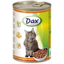 Kompletní krmivo, krmení pro dospělé kočky drůbeží Dax 1x415g