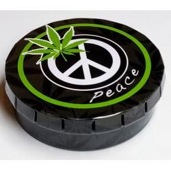 Krabička plechová Click-Clack Marihuana hippies Shanti