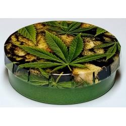 Krabička plechová Click-Clack motiv Marihuana