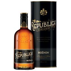 Republica Exclusive třtinový rum dárkové balení tuba Božkov 38% 4x0,7l
