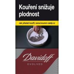 Kartonové balení tvrdá krabička cigarety s filtrem Davidoff Evolved Red kolek Z 107 Kč 10x20 ks - 200 ks cigaret