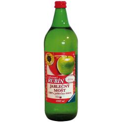 Jablečný mošt 100% jablečná šťáva Lažanský rubín 1l