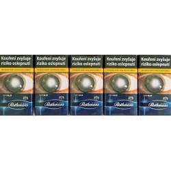 Kartonové balení tvrdá krabička cigarety s filtrem Rothmans of London Demi Blue kolek F 112 Kč 10x20 ks