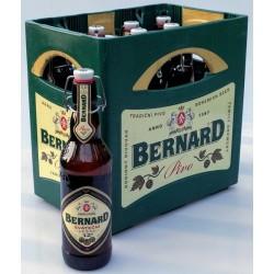 Zálohovaný vratný obal přepravka na pivo + sklo - Bernard