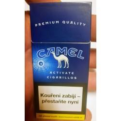 Kartonové balení tvrdá krabička cigaretové doutníčky Activate cigarillos Camel 10 ks