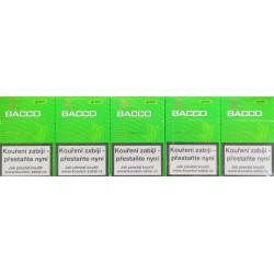 Kartonové balení tvrdá krabička cigaretové doutníčky s filtrem Bacco Green 10x17ks