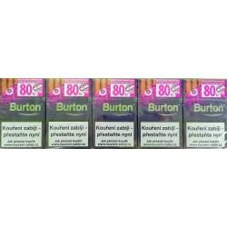 Kartonové balení tvrdá krabička cigaretové doutníčky s kapslí uvnitř filtru Burton Purple 10x17ks