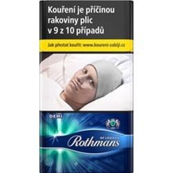 Kartonové balení tvrdá krabička cigarety s filtrem Rothmans of London Demi Ultramarine kolek F 106 Kč 10x20ks