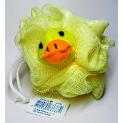 Dětská koupelová masážní mycí žínka žluté kuřátko 12x8cm 25g