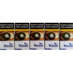 Kartonové balení tvrdá krabička cigarety s filtrem Winston Blue 100s kolek F 110 Kč 10x20 ks