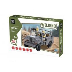 Stavebnice americký vojenský jeep + 2 minifigurky 199 dílů ICOM Blocki