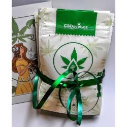 CBD marihuana konopí květy – dárkový balíček ochutnávkový mix 8 druhů