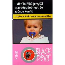 Kartonové balení tvrdá krabička cigarety s filtrem Black Devil Pink kolek F 134 Kč 10x20ks