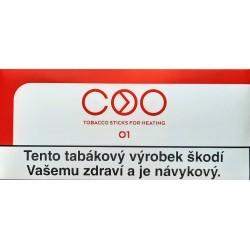 Kartonové balení zahřívané tabákové náplně COO Red O1 6,6g tabáku (10x20ks)200ks / 10x(20x6,6g)1260g