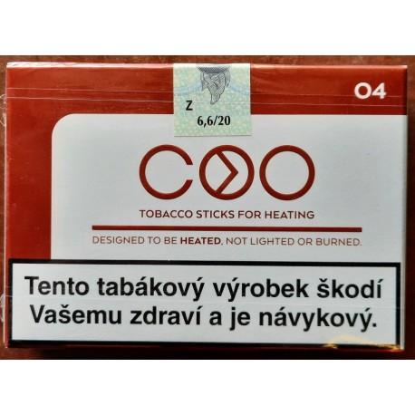 Kartonové balení zahřívané tabákové náplně COO Brown 04 6,6g tabáku (10x20ks)200ks / 10x(20x6,6g)1260g