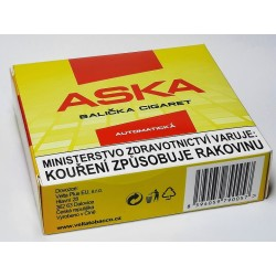 Balička cigaret automatická plechová krabička na tabák 70 mm Aska