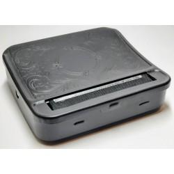 Balička cigaret automatická / balící plechová krabička na tabák / 70 mm černá Atomic