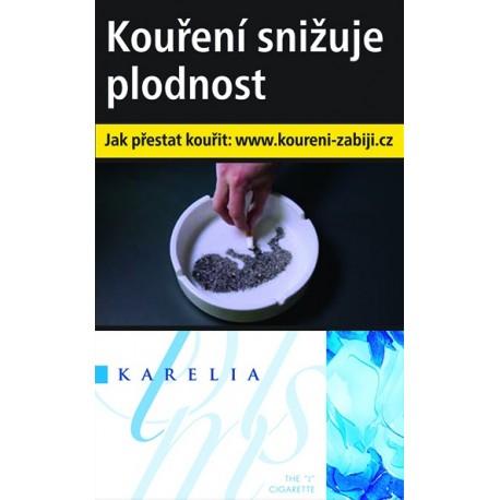 Kartonové balení tvrdá krabička cigarety s filtrem Karelia slim I 0,1 Mg kolek F 110 Kč 10x20 ks