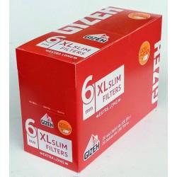 Cigaretové filtry extra dlouhé XL 6 mm slim filters extra long Gizeh 20x100 ks