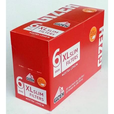 Cigaretové filtry slim filters 6,0 mm Gizeh 120 ks