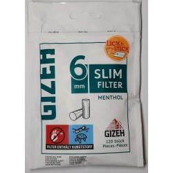 Cigaretové filtry Slim filter Menthol 6mm Gizeh 120 ks