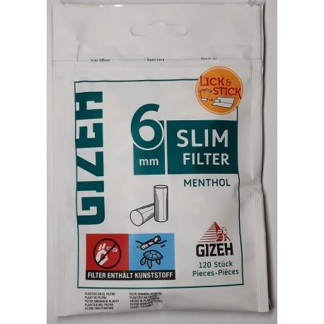 Cigaretové filtry extra dlouhé XL 6 mm slim filters extra long Gizeh 100 ks