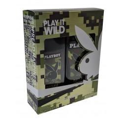 Playboy-Man Play it wild -Deodorant body 75ml-Shower gel 250ml