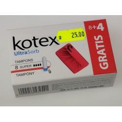 Kotex UltraSorb Tampons 8+4 gratis